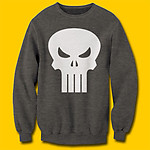 Punisher Logo Charcoal Heather Sweatshirt