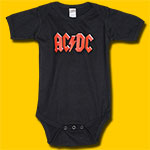 AC/DC Child's Black Onesie