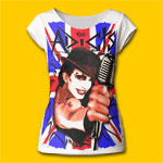The Adicts Union Jack Girls T-Shirt