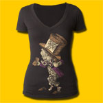 Alice's Adventures in Wonderland Hatter Girls V-Neck T-Shirt