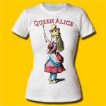 Alice's Adventures in Wonderland Queen Alice Girls Crew T-Shirt