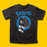 Germs Leather Skeleton Black T-Shirt