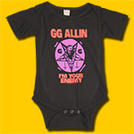 GG Allin Child Black Onesie