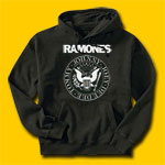 Ramones Logo Black Hooded Sweatshirt